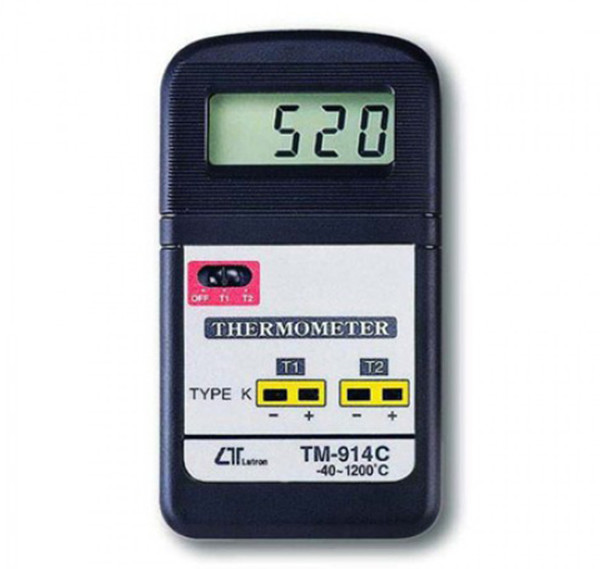 LUTRON DUAL CHANNEL DIGITAL THERMOMETER TM-914C