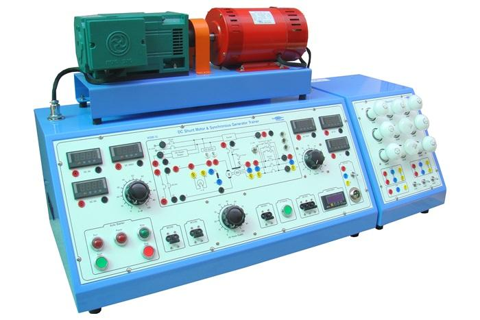 WOOSUN DC COMPOUND MOTOR & SYNCHRONOUS GENERATOR TRAINER【 WSM-18 】